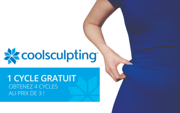 Promotion Coolsculpting 1 cycle gratuit